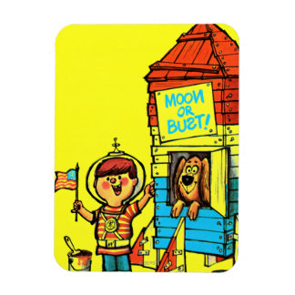 Moon or Bust! Rectangular Photo Magnet