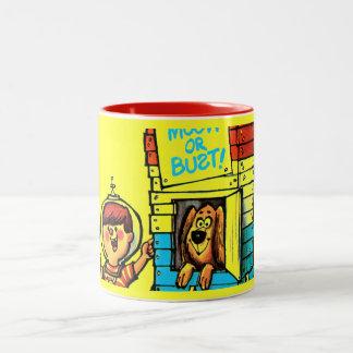 Moon or Bust! Two-Tone Coffee Mug