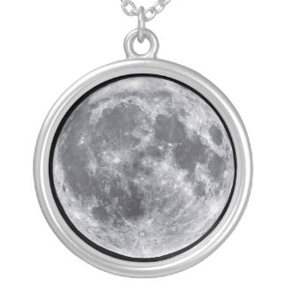 Moon Outer Space Planet Charm Necklace