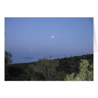 Moon Over Carlsbad Greeting Cards