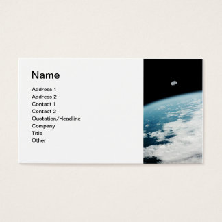 Moon over Earth Business Card