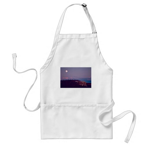 Moon Over El Morro National Monument Adult Apron