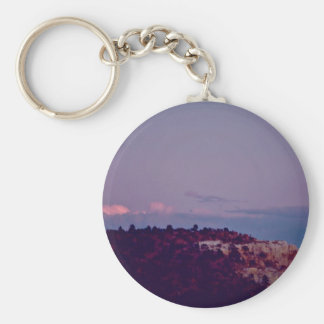 Moon Over El Morro National Monument Key Chain