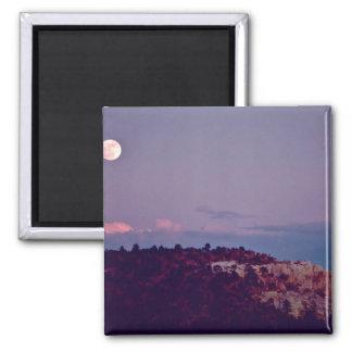 Moon Over El Morro National Monument Fridge Magnets