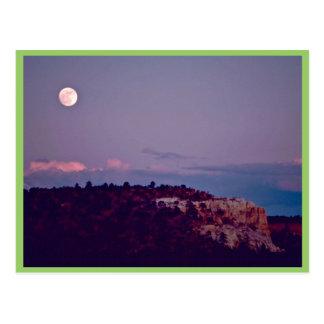 Moon Over El Morro National Monument Postcard