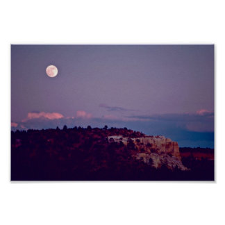 Moon Over El Morro National Monument Poster