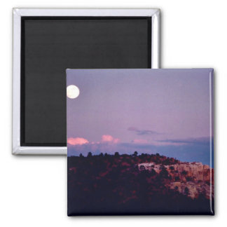 Moon over El Morro National Park Fridge Magnets
