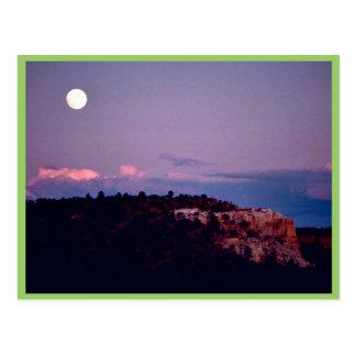 Moon over El Morro National Park Postcard