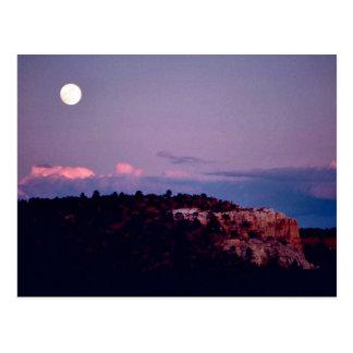 Moon over El Morro National Park Post Cards