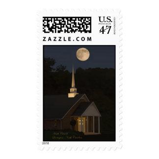 Moon Over Heath Church Postage