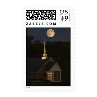 Moon Over Heath Church Postage Stamps
