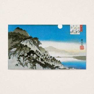 Moon over Ishiyama, Japan circa 1834-35 Business Card