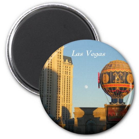 Moon over Las Vegas Magnet