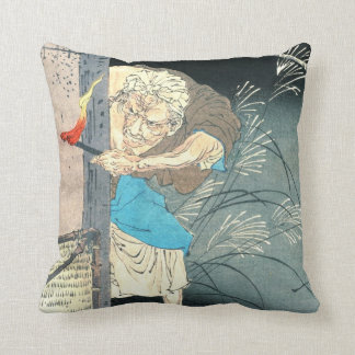Moon Over Lonely Dwelling 1880 Throw Pillow