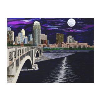 Moon Over Minneapolis Canvas Print