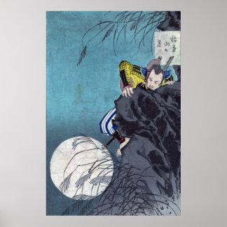 Moon over Mount Inaba, Tsukioka Yoshitoshi Poster