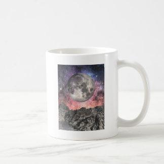 Moon Over Mountain Lake Coffee Mug
