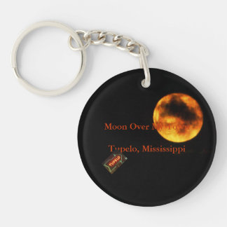 Moon Over My Town - Tupelo, Mississippi Keychain