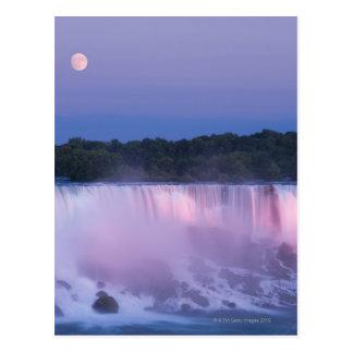 Moon over Niagara Falls Postcard