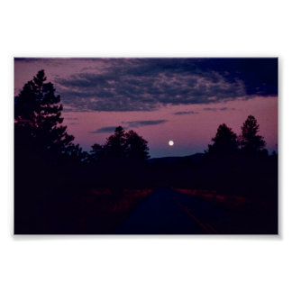 Moon over Red Canyon Print