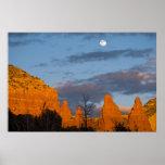 Moon Over Sedona, Arizona 2222 Poster