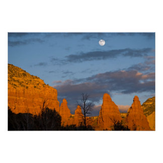 Moon Over Sedona, Arizona 2222 Poster