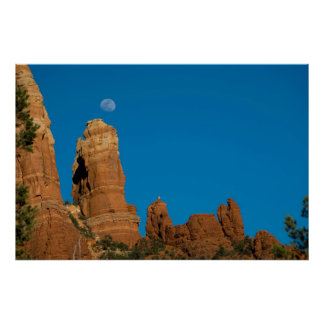 Moon Over Snoopy Rock 3948 Posters