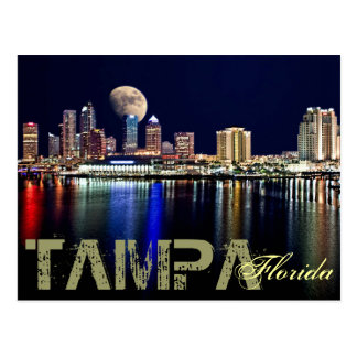 MOON OVER TAMPA BAY ! POSTCARD