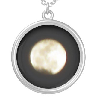 Moon over the Caribbean Round Pendant Necklace