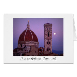 Moon over the Duomo Greeting Card
