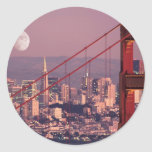Moon Over the Gate Classic Round Sticker