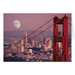 Moon Over the Gate Greeting Card