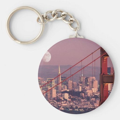 Moon Over the Gate Key Chains