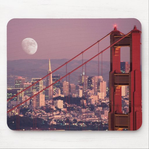 Moon over the Gate Mouse Pad