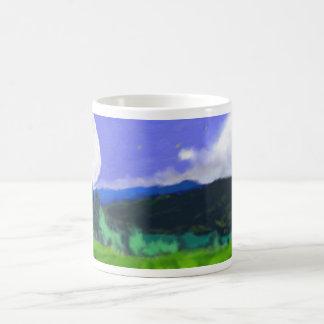 Moon Over the Land 2 Art Coffee Mug