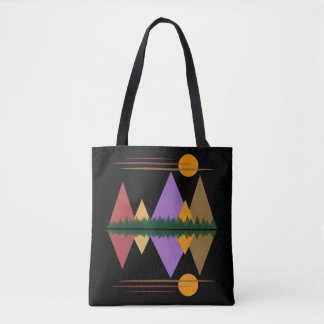 Moon Over The Mountains #4 Tote Bag