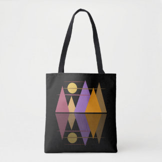 Moon Over The Mountains #6 Tote Bag