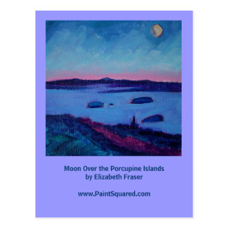 Moon Over the Porcupine Islands • Maine Postcards