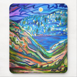 MOON OVER THE SEA MOUSE PAD