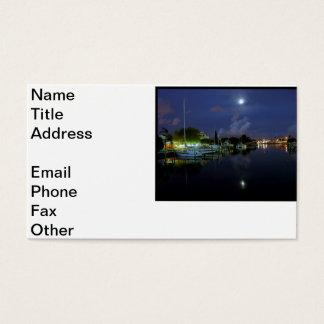 Moon Over Treasure Island Business Card
