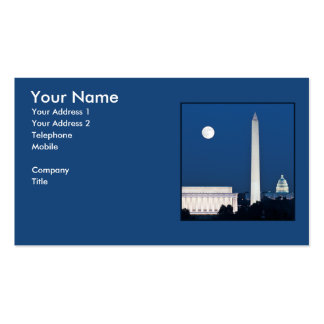 Moon over Washington DC Double-Sided Standard Business Cards (Pack Of 100)