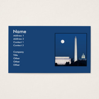 Moon over Washington DC Business Card