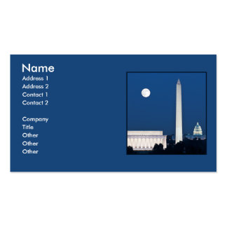 Moon over Washington DC Business Cards