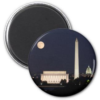 Moon over Washington DC Fridge Magnet