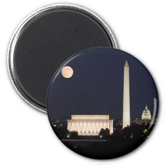Moon over Washington DC Magnets