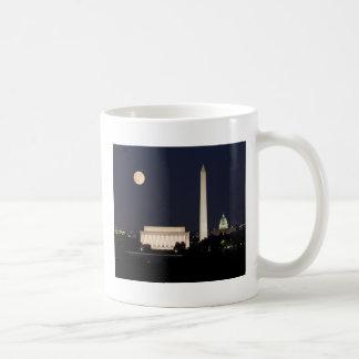 Moon over Washington DC Mugs