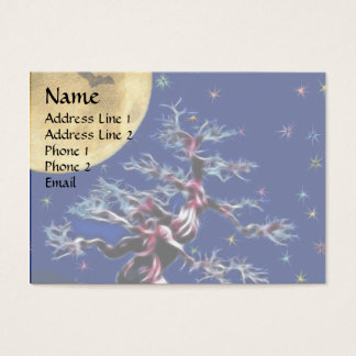 Moon Over Witch Tree Business Card
