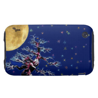 Moon Over Witch Tree iPhone 3 Tough Covers