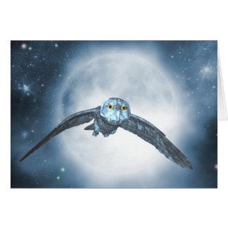 Moon owl Card