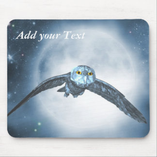 Moon owl Mouse Pad